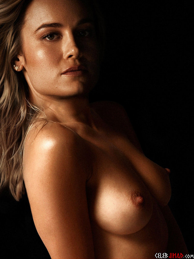 Brie Larson topless nude